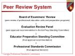 peer review system