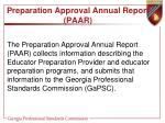 preparation approval annual report paar