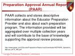 preparation approval annual report paar1