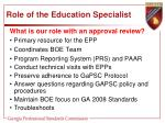 role of the education specialist