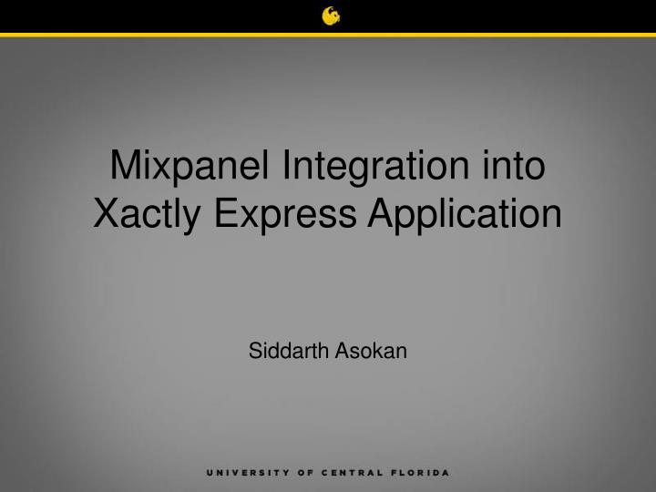 mixpanel integration into xactly express application n.
