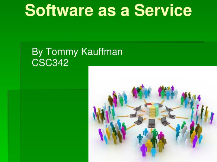 software as a service n.