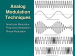analog modulation techniques