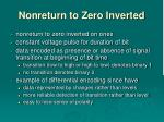 nonreturn to zero inverted