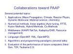collaborations toward paap