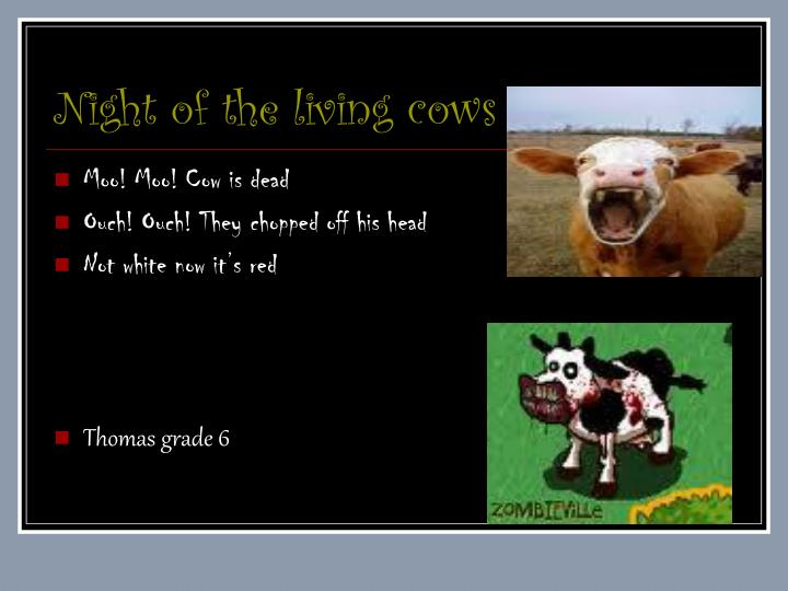 night of the living cows n.