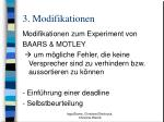 3 modifikationen