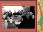 anwesend bei der taufe fam kassnel pfarrer hebamme und messner sowie die verwandtschaft