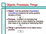 objects processes things