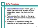opm principles