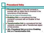 procedural links