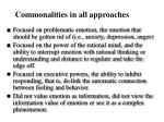 commonalities in all approaches