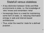 statefull versus stateless