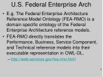 u s federal enterprise arch