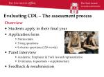 evaluating cdl the assessment process