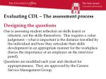 evaluating cdl the assessment process1