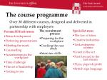the course programme