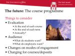 the future the course programme