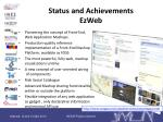 status and achievements ezweb