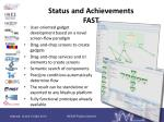 status and achievements fast