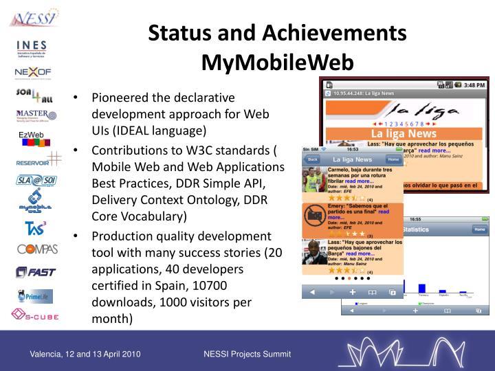 Status and Achievements