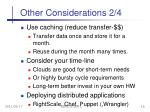 other considerations 2 4