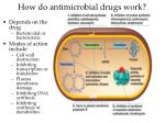how do antimicrobial drugs work