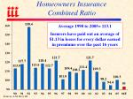 homeowners insurance combined ratio