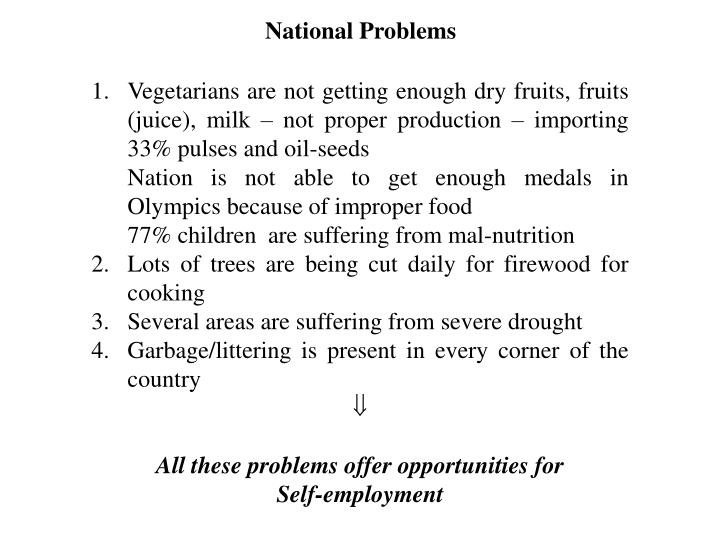 National Problems