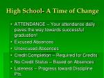 high school a time of change1