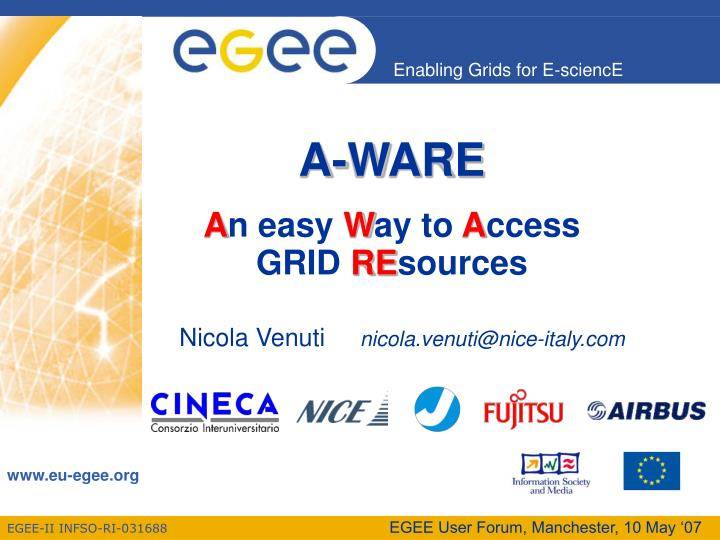 a ware a n easy w ay to a ccess grid re sources n.