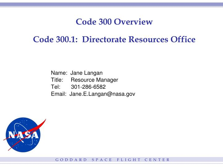 code 300 overview code 300 1 directorate resources office n.