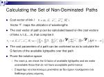 calculating the set of non dominated paths