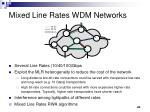mixed line rates wdm networks