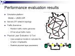 performance evaluation results