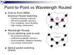 point to point vs wavelength routed