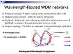 wavelength routed wdm networks
