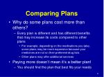 comparing plans