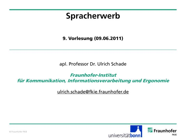 spracherwerb n.