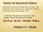finding the molecular formula2