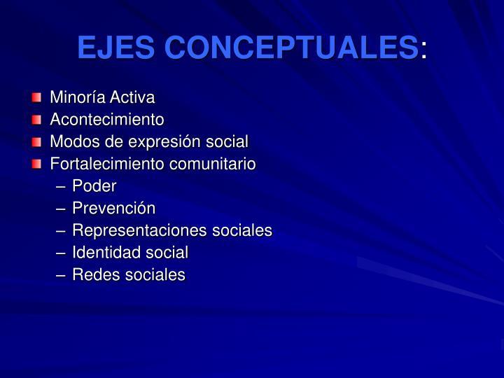 EJES CONCEPTUALES