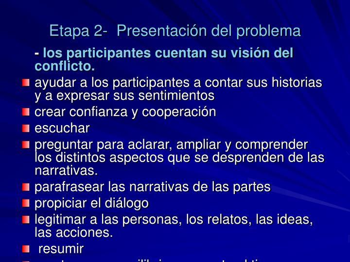Etapa 2-  Presentación del problema