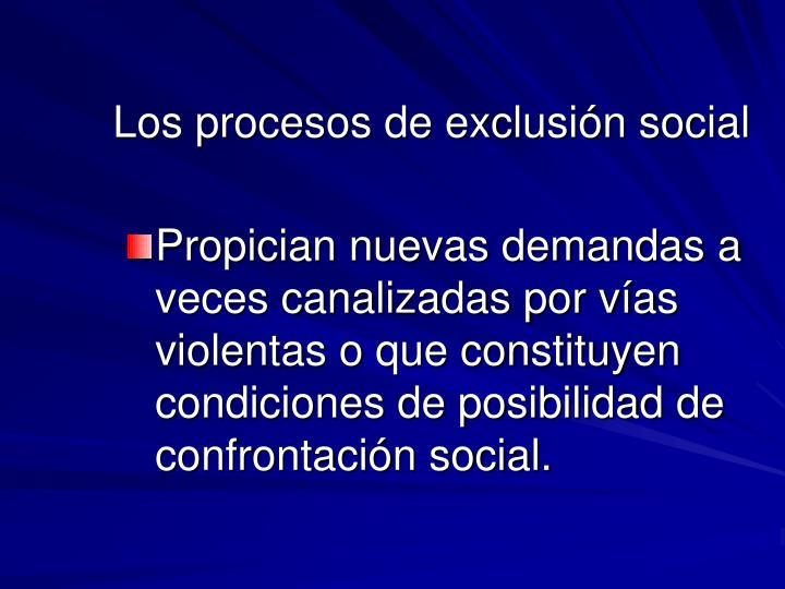 Los procesos de exclusión social