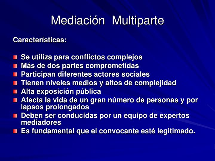 Mediación  Multiparte
