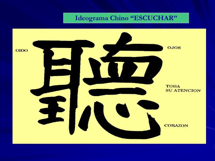 """Ideograma Chino """"ESCUCHAR"""""""