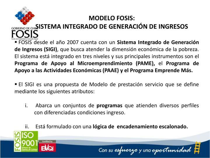 MODELO FOSIS: