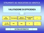strumenti ed indicatori di verifica