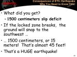 consequences of ets earthquake why you need to know this