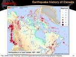earthquake history of canada