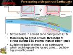 forecasting a megathrust earthquake